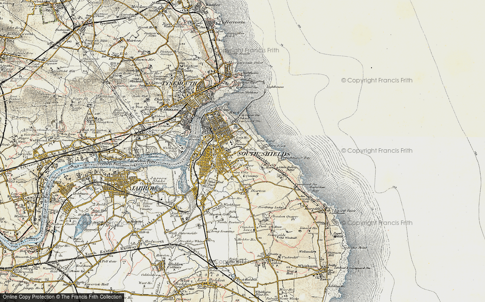 Old Map of Westoe, 1901-1903 in 1901-1903
