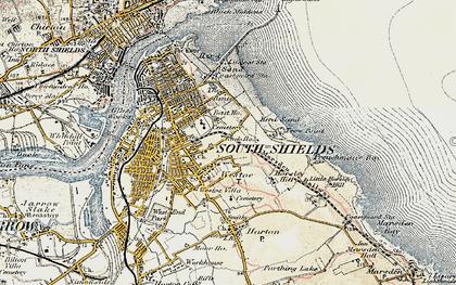 Old map of Westoe in 1901-1903