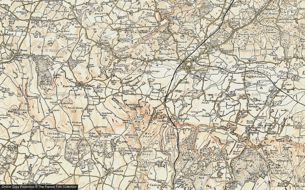 Old Map of Weston, 1897-1900 in 1897-1900