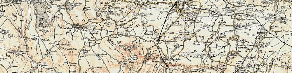 Old map of Weston in 1897-1900