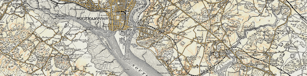 Old map of Weston in 1897-1909