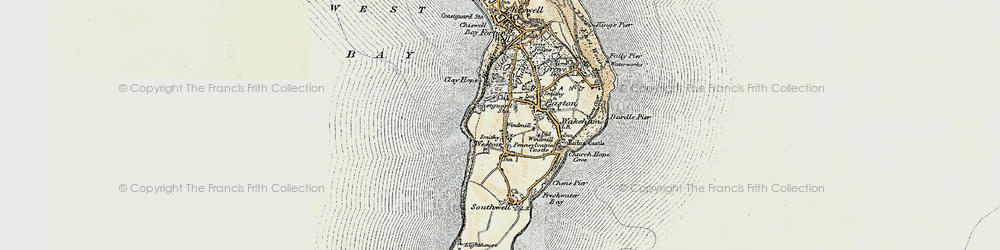 Old map of Weston in 1899