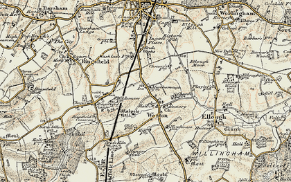Old map of Weston in 1901-1902