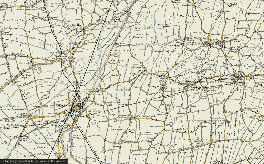 Old Map of Weston, 1901-1903 in 1901-1903
