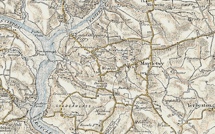 Old map of Weston in 1901-1912