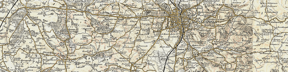 Old map of Weston in 1902-1903