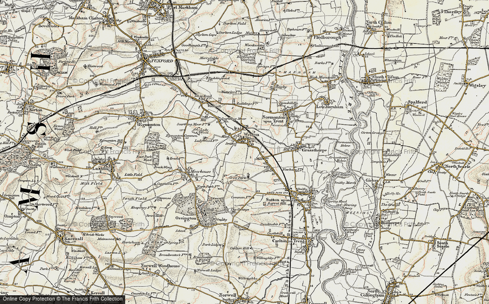 Old Map of Weston, 1902-1903 in 1902-1903