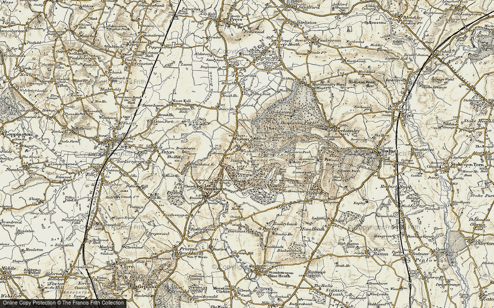 Old Map of Weston, 1902 in 1902