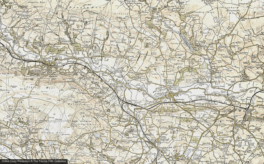 Old Map of Historic Map covering Ash Holme in 1903-1904