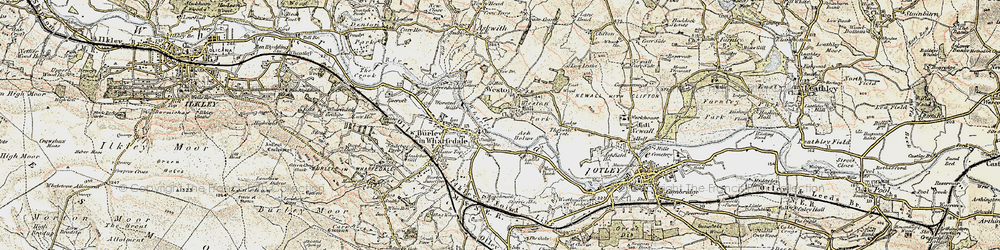 Old map of Weston in 1903-1904