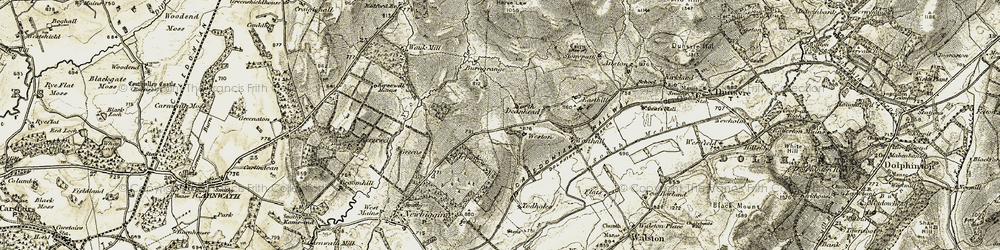 Old map of Weston in 1904-1905