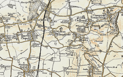 Old map of Weston Bampfylde in 1899