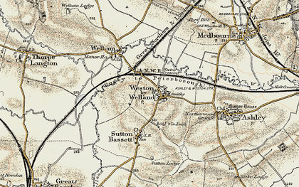 Old map of Weston by Welland in 1901-1902