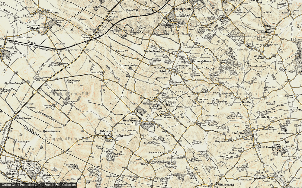 Old Map of Weston Colville, 1899-1901 in 1899-1901