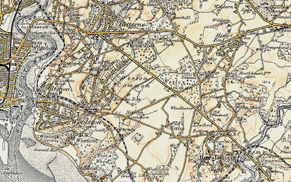 Old map of Weston Common in 1897-1909