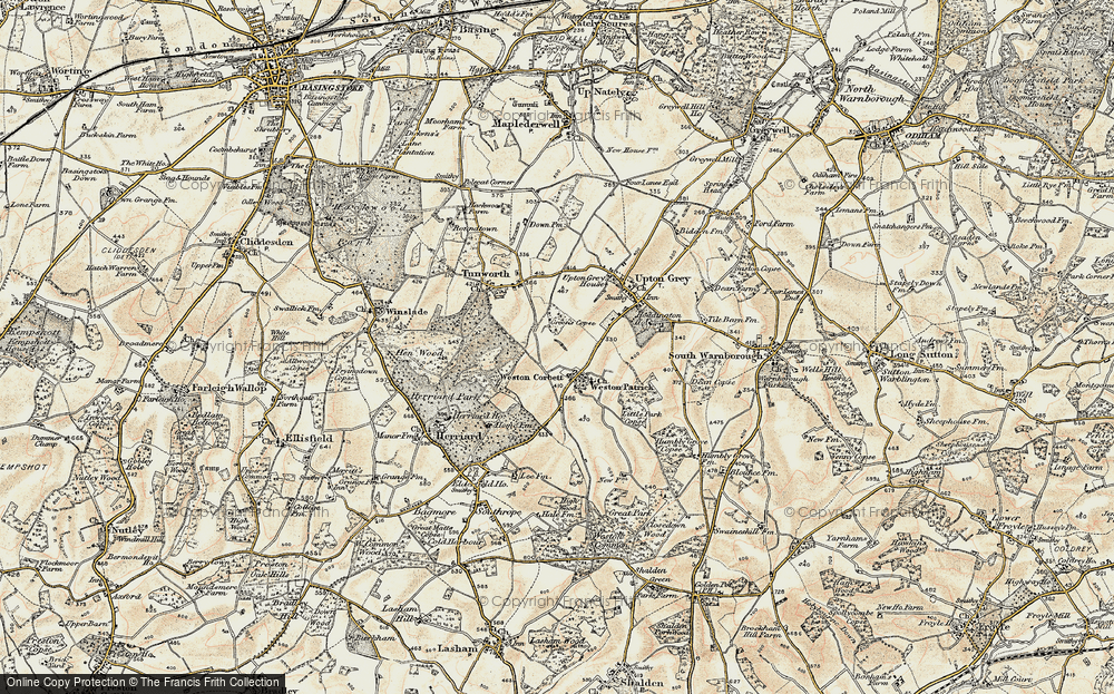Old Map of Weston Corbett, 1897-1900 in 1897-1900