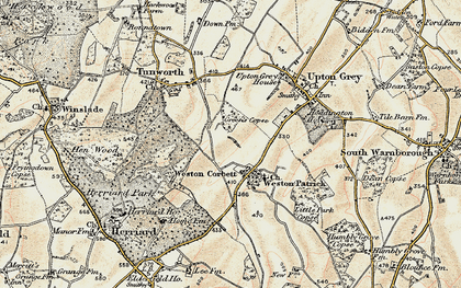 Old map of Weston Corbett in 1897-1900