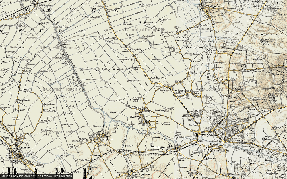 Old Map of Weston Ditch, 1901 in 1901