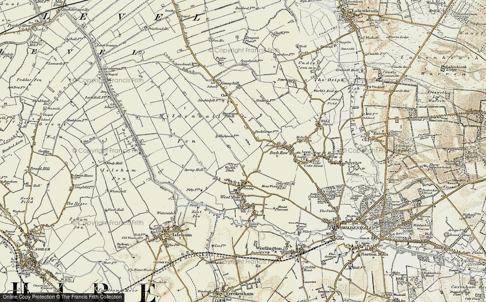 Weston Ditch, 1901