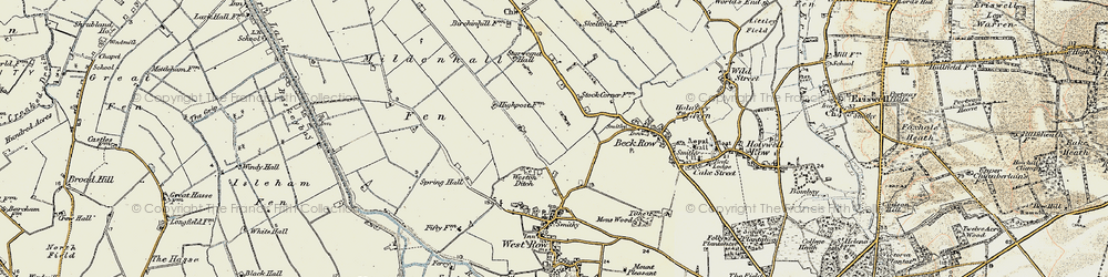 Old map of Weston Ditch in 1901