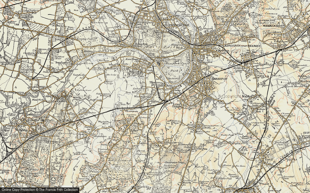 Old Map of Weston Green, 1897-1909 in 1897-1909