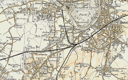 Old map of Weston Green in 1897-1909