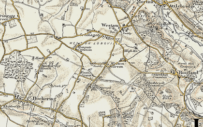 Old map of Weston Green in 1901-1902