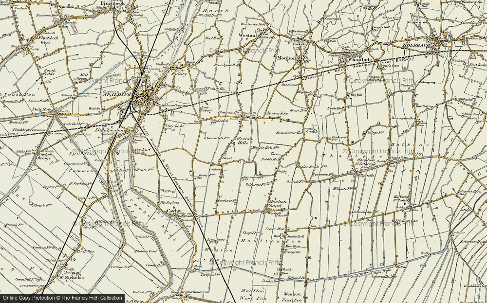 Old Map of Weston Hills, 1901-1903 in 1901-1903