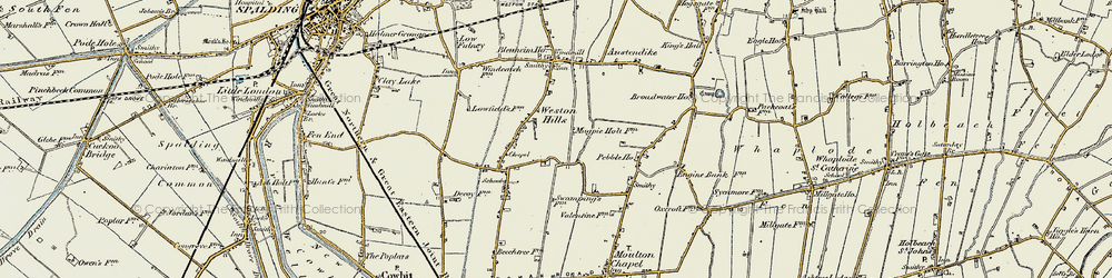 Old map of Weston Hills in 1901-1903