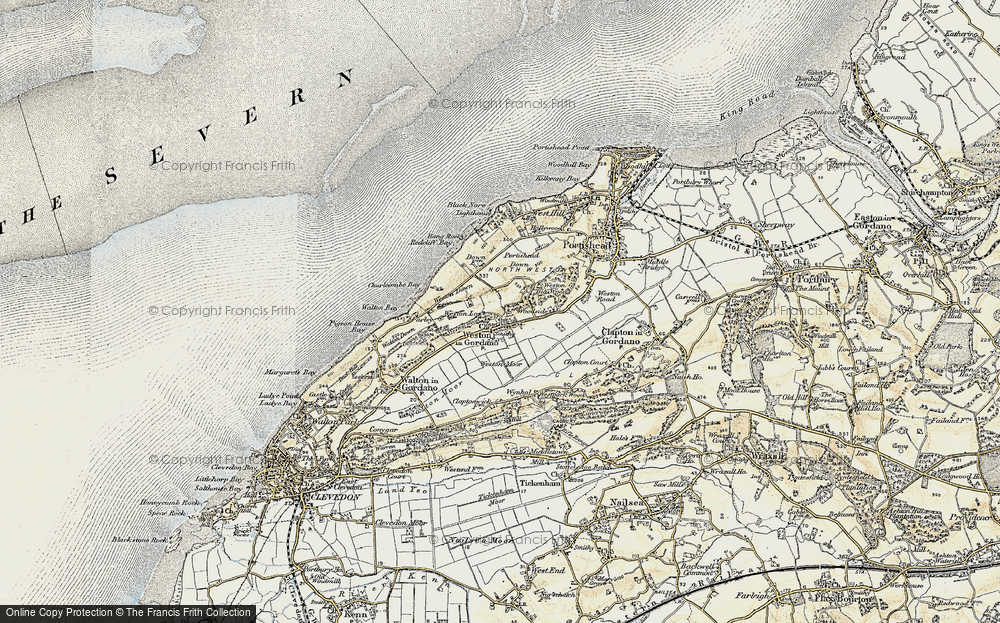 Old Map of Weston in Gordano, 1899-1900 in 1899-1900