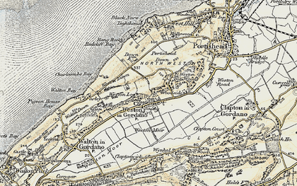 Old map of Weston in Gordano in 1899-1900