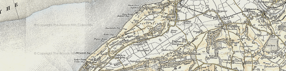Old map of Weston Down in 1899-1900