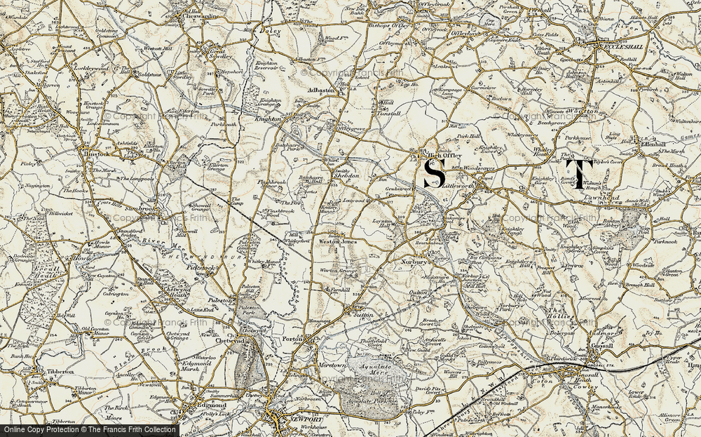 Old Map of Historic Map covering Leawood in 1902