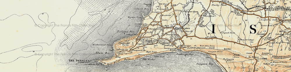 Old map of Weston Manor in 1899-1909