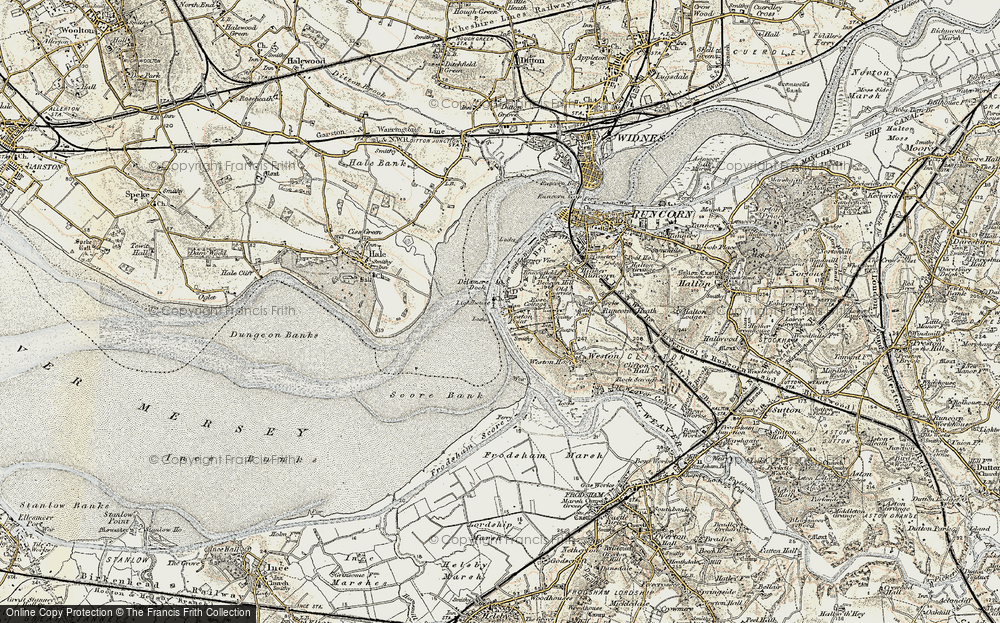 Old Map of Weston Point, 1902-1903 in 1902-1903