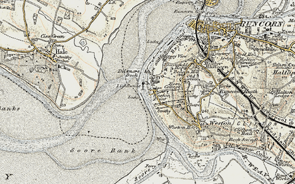 Old map of Weston Point in 1902-1903