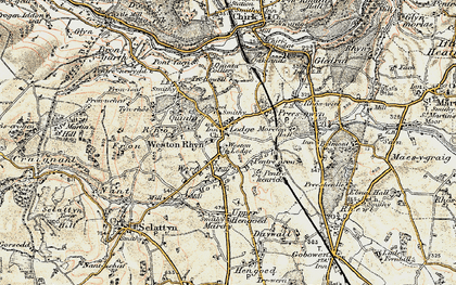 Old map of Weston Rhyn in 1902-1903