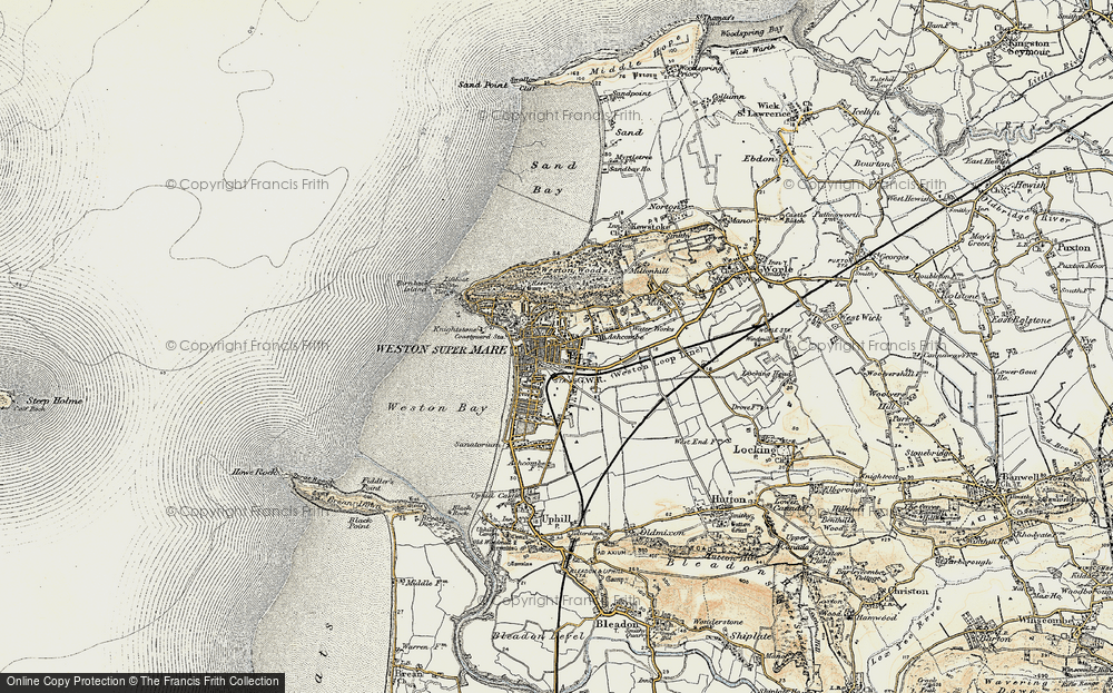 Old Map of Weston-super-Mare, 1899-1900 in 1899-1900