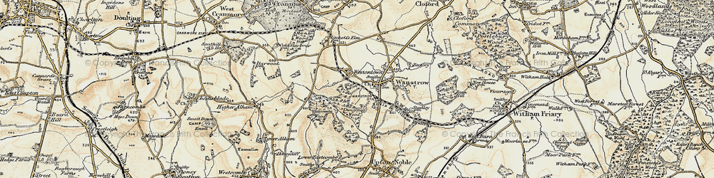 Old map of Weston Town in 1899