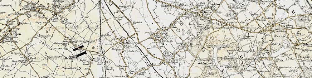 Old map of Weston Turville in 1898