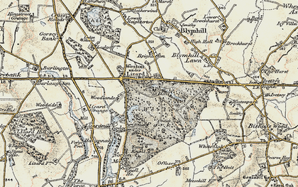 Old map of Weston Under Lizard in 1902