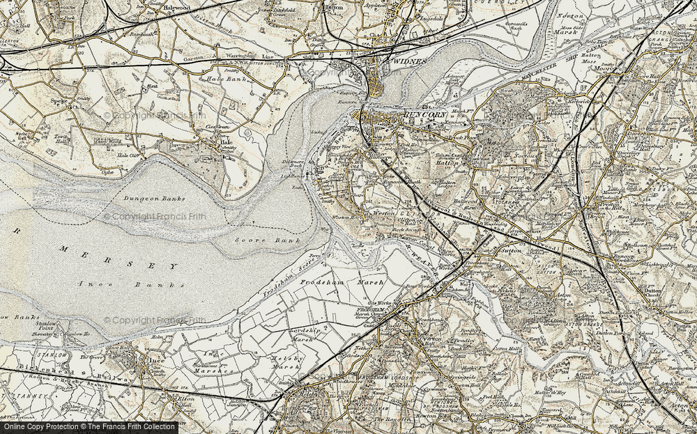 Old Map of Weston Village, 1902-1903 in 1902-1903
