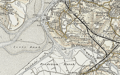 Old map of Weston Village in 1902-1903