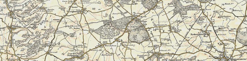 Old map of Westonbirt School in 1898-1899