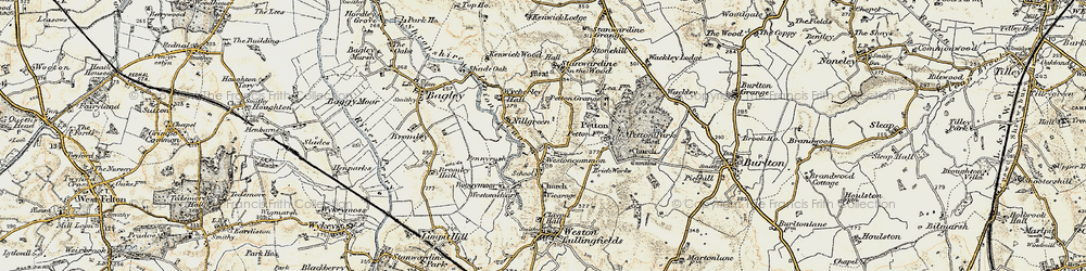 Old map of Westoncommon in 1902