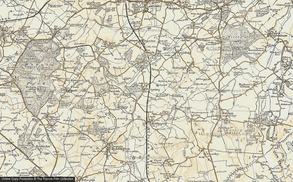 Old Map of Westoning, 1898-1899 in 1898-1899