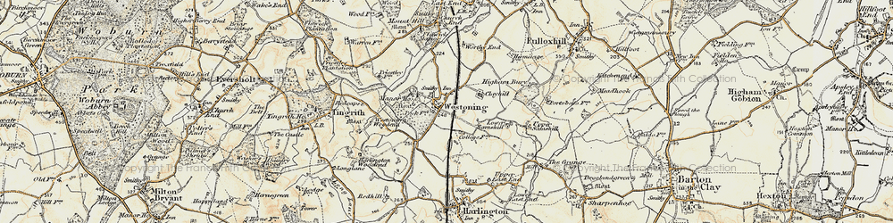 Old map of Westoning in 1898-1899