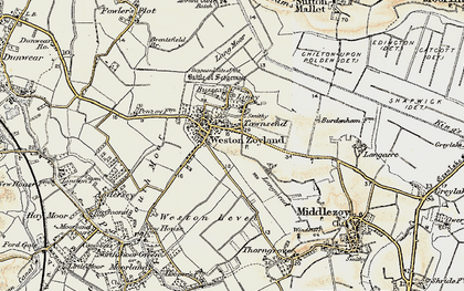 Old map of Westonzoyland in 1898-1900