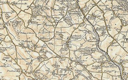 Old map of Westowe in 1898-1900