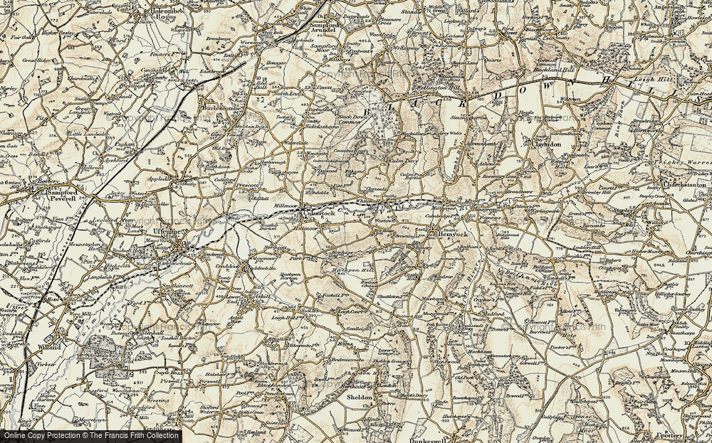 Old Map of Historic Map covering Leigh Court in 1898-1900
